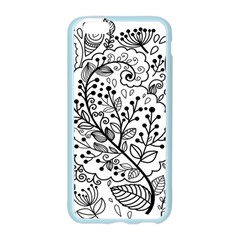 Black Abstract Floral Background Apple Seamless iPhone 6/6S Case (Color)