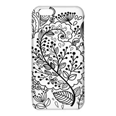 Black Abstract Floral Background iPhone 6/6S TPU Case