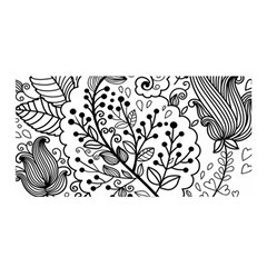 Black Abstract Floral Background Satin Wrap