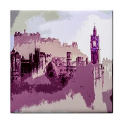 Abstract Painting Edinburgh Capital Of Scotland Tile Coasters