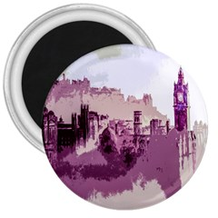 Abstract Painting Edinburgh Capital Of Scotland 3  Magnets