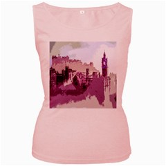 Abstract Painting Edinburgh Capital Of Scotland Women s Pink Tank Top