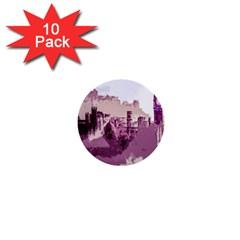Abstract Painting Edinburgh Capital Of Scotland 1  Mini Buttons (10 Pack)