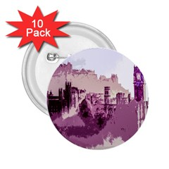 Abstract Painting Edinburgh Capital Of Scotland 2 25  Buttons (10 Pack)