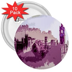 Abstract Painting Edinburgh Capital Of Scotland 3  Buttons (10 Pack)