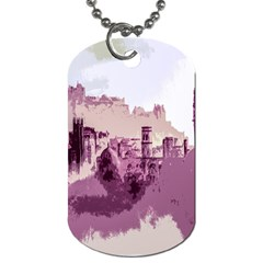 Abstract Painting Edinburgh Capital Of Scotland Dog Tag (one Side)