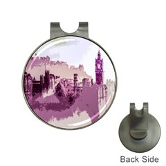 Abstract Painting Edinburgh Capital Of Scotland Hat Clips with Golf Markers
