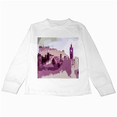 Abstract Painting Edinburgh Capital Of Scotland Kids Long Sleeve T Shirts