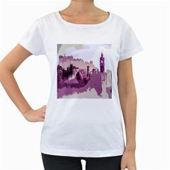 Abstract Painting Edinburgh Capital Of Scotland Women s Loose Fit T Shirt (white)