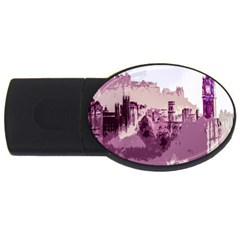Abstract Painting Edinburgh Capital Of Scotland USB Flash Drive Oval (4 GB)