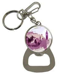 Abstract Painting Edinburgh Capital Of Scotland Button Necklaces