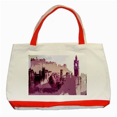 Abstract Painting Edinburgh Capital Of Scotland Classic Tote Bag (red)