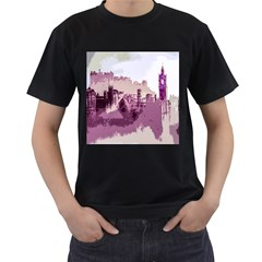 Abstract Painting Edinburgh Capital Of Scotland Men s T Shirt (black)