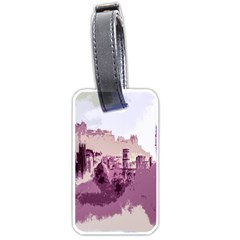 Abstract Painting Edinburgh Capital Of Scotland Luggage Tags (one Side)