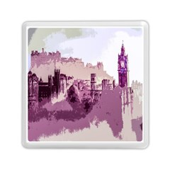 Abstract Painting Edinburgh Capital Of Scotland Memory Card Reader (square)