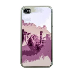 Abstract Painting Edinburgh Capital Of Scotland Apple iPhone 4 Case (Clear)