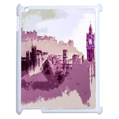 Abstract Painting Edinburgh Capital Of Scotland Apple iPad 2 Case (White)