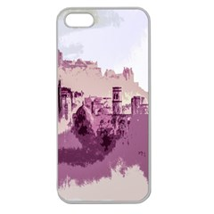 Abstract Painting Edinburgh Capital Of Scotland Apple Seamless Iphone 5 Case (clear)