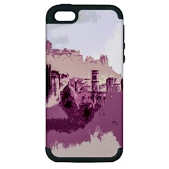 Abstract Painting Edinburgh Capital Of Scotland Apple iPhone 5 Hardshell Case (PC+Silicone)