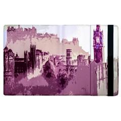 Abstract Painting Edinburgh Capital Of Scotland Apple Ipad 2 Flip Case