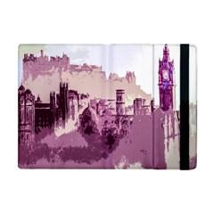 Abstract Painting Edinburgh Capital Of Scotland Apple Ipad Mini Flip Case