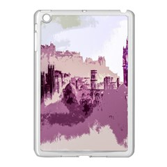 Abstract Painting Edinburgh Capital Of Scotland Apple iPad Mini Case (White)