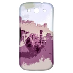 Abstract Painting Edinburgh Capital Of Scotland Samsung Galaxy S3 S Iii Classic Hardshell Back Case