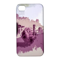 Abstract Painting Edinburgh Capital Of Scotland Apple iPhone 4/4S Hardshell Case with Stand