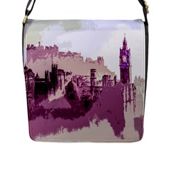 Abstract Painting Edinburgh Capital Of Scotland Flap Messenger Bag (L)