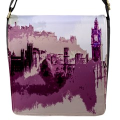 Abstract Painting Edinburgh Capital Of Scotland Flap Messenger Bag (S)
