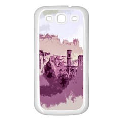 Abstract Painting Edinburgh Capital Of Scotland Samsung Galaxy S3 Back Case (White)