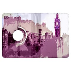 Abstract Painting Edinburgh Capital Of Scotland Kindle Fire HDX Flip 360 Case
