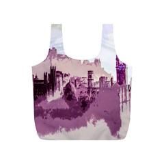 Abstract Painting Edinburgh Capital Of Scotland Full Print Recycle Bags (S)