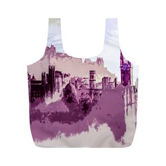 Abstract Painting Edinburgh Capital Of Scotland Full Print Recycle Bags (M)