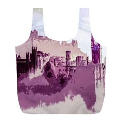 Abstract Painting Edinburgh Capital Of Scotland Full Print Recycle Bags (L)
