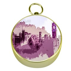 Abstract Painting Edinburgh Capital Of Scotland Gold Compasses