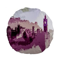 Abstract Painting Edinburgh Capital Of Scotland Standard 15  Premium Flano Round Cushions