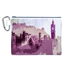 Abstract Painting Edinburgh Capital Of Scotland Canvas Cosmetic Bag (L)