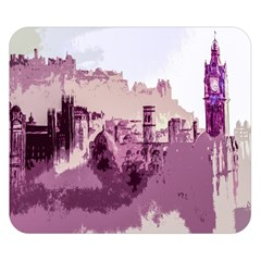 Abstract Painting Edinburgh Capital Of Scotland Double Sided Flano Blanket (Small)