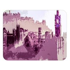 Abstract Painting Edinburgh Capital Of Scotland Double Sided Flano Blanket (large)