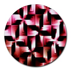 Red And Pink Abstract Background Round Mousepads