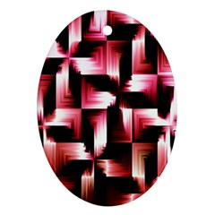 Red And Pink Abstract Background Ornament (oval)