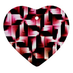 Red And Pink Abstract Background Ornament (heart)