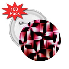 Red And Pink Abstract Background 2 25  Buttons (100 Pack)