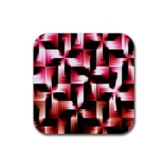 Red And Pink Abstract Background Rubber Coaster (Square)