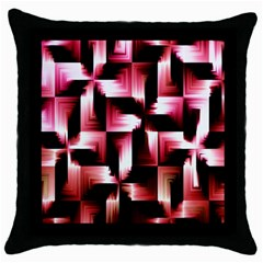 Red And Pink Abstract Background Throw Pillow Case (black)