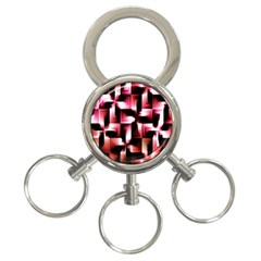 Red And Pink Abstract Background 3-Ring Key Chains