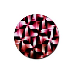 Red And Pink Abstract Background Rubber Round Coaster (4 Pack)