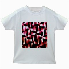 Red And Pink Abstract Background Kids White T-Shirts