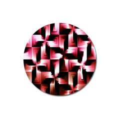 Red And Pink Abstract Background Magnet 3  (Round)